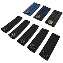 ULTNICE 8 Pack Jeans Extender Pantalon élastique réglable Extensions de  boutons de taille pour pantalons Jeans 25e157414f76