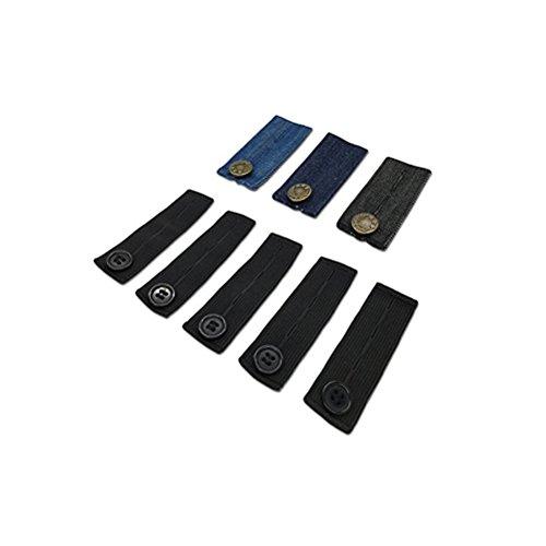 ROSENICE 8 Pack Hosenerweiterung Einstellbare Elastische Hosen Taille Extender für Pants Jeans Schwangere Hosen