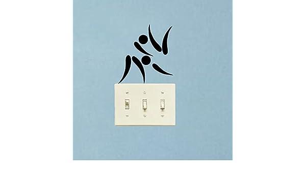 Retro Kühlschrank Yoga : Judo piktogramm symbol mode home decor tapetensticker vinyl schalter