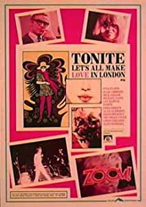 TONITE LET'S ALL MAKE LOVE IN LONDON 1967 Alan Aldridge UK POSTER