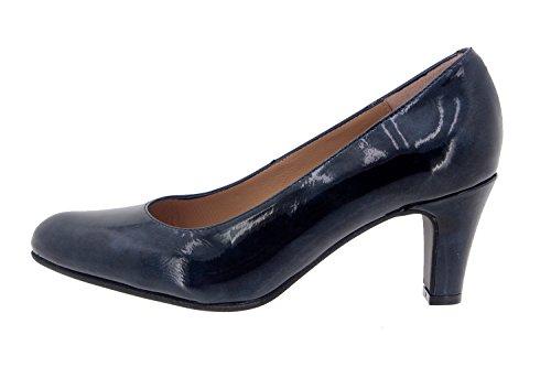 Chaussure femme confort en cuir Piesanto 7201 escarpin habillé comfortables amples Marino