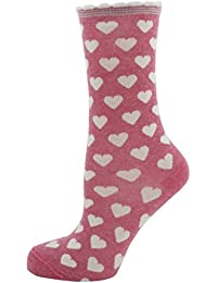 Zest Pink Heart & Stripe Trim Socks 4-7