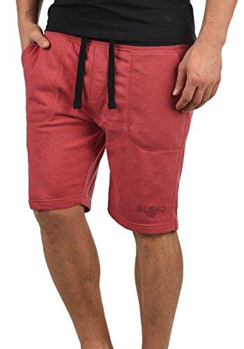 Blend Juve Herren Sweatshorts Kurze Hose Jogginghose Mit Melierung Und Kordel Regular Fit, Größe:XXL, Farbe:Cardinal Red (73020) - Gerippt Wolle Blend