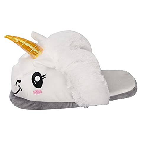 Unicorn Einhorn Plüsch Hausschuhe Winter Tier Pantoffeln Kostüm Cartoon Hause Schuhe Erwachsene Größe: 36-41 (EU (36-41), Einhorn (Cosplay Haus Kostüme)