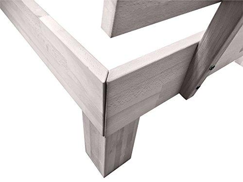 SAM® Massiv-Holzbett Jessica in Buche weiß, Bett mit geteiltem Kopfteil, natürliche Maserung, massive widerstandsfähige Oberfläche in edlem Weißton, 120 x 200 cm - 5