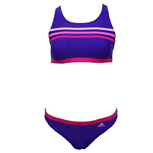 adidas 3 Streifen Mädchen Bikini Lila, Kinder Größen:170