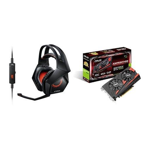 STRIX 2.0, Nero + nVidia GeForce GTX1050 Scheda Grafica PCI Express 3.0 da 2 GB, GDDR5, 640 Cuda Cores, Nero