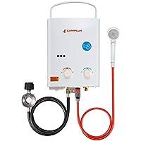 Camplux 5L extérieur portable au gaz propane Chauffe-eau Chauffe-eau instantané/camping/cheval de douche avec régulateur de ce