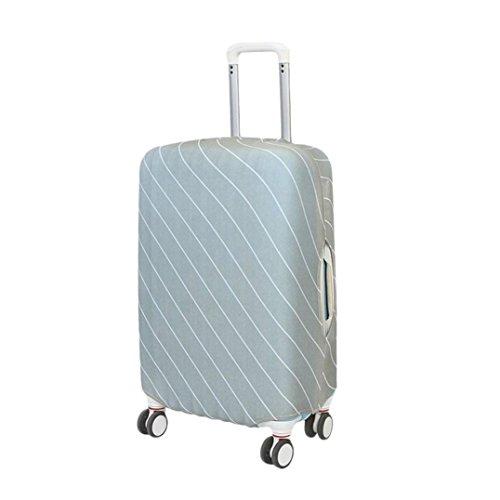 Gaddrt Couverture de bagage de voyage, protecteur de sac antipoussière de valise élastique, 18-20 pouces (Gris)
