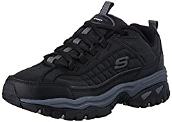 Skechers Sport Energy Afterburn Lace-up Sneaker Black/Gray 10 D(M) US
