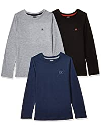 Amazon Brand - Jam & Honey Girl's Classic Fit Long Sleeve Top (Pack of 3)
