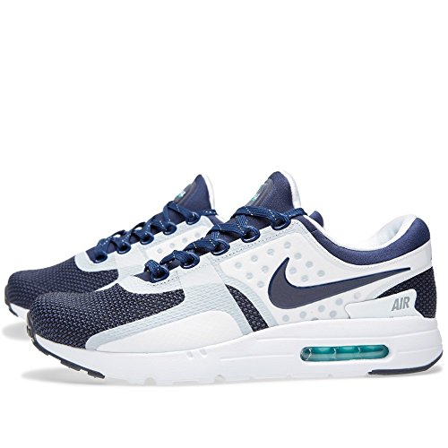 Nike Air Max Zero Qs, Chaussures de Running Entrainement Garçon Multicolore - Blanco / Azul (White / Mid Navy-Rftbl-Hypr Jd)