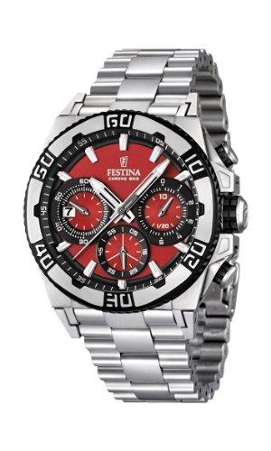 Festina Herren-Armbanduhr XL Tourchrono 2013 Chronograph Quarz Edelstahl F16658/8