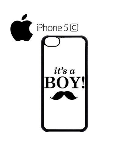 It is a Boy New Baby Maternity Mobile Cell Phone Case Cover iPhone 5c Black Weiß