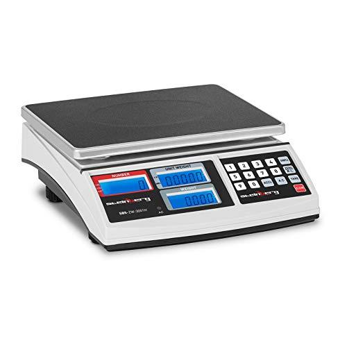 Steinberg Systems SBS-ZW-3001H Balanza Cuentapiezas Bascula DigitalBalanza Comercial30 kg / 1 g...