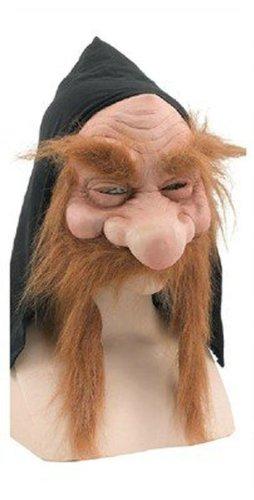 Bristol Novelties - Gnom Zwerg Gummi Panto Maske Mit Hellbraunem Bart & Schwarzer - Bart-maske