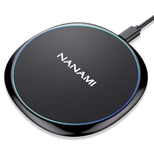 NANAMI Fast Wireless Charger, Qi Ladegerät wireless charging pad für iPhone X XS Max XS XR 8 8 Plus, 10W Schnelles drahtloses Ladegerät kabelloses Induktive Ladestation für Samsung Galaxy S10 S9 S8 S7