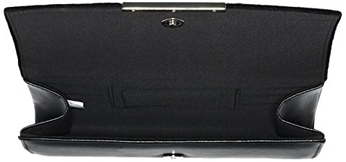 Buffalo Damen Bag Bwg-05 Pony Hair PU Clutches, 25x13x4 cm Schwarz (Black 01)