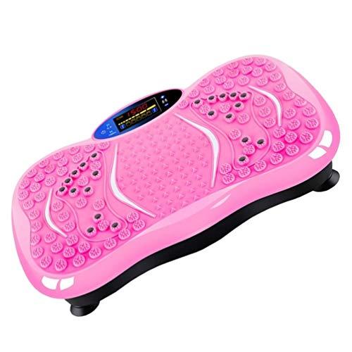 trainer Vibrationsplatte Fettverbrennung Maschine Massage Oszillierend Abnehmen Karosserie Schütteln Fitness Persönlich Sport Teller Bauch Abnehmen (Color : Pink)