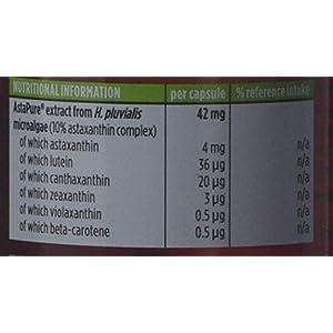 41eCXddTvZL. SS300  - Pure & Essential Astaxanthin Complex, 42 mg Astapure Providing 4 mg H. Pluvialis Astaxanthin, 90 Vegan Capsules