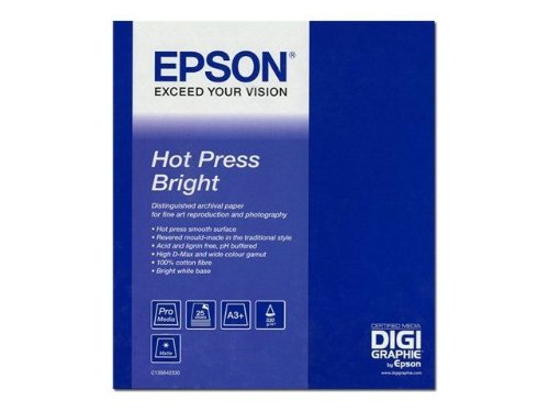Great Buy for Epson C13S042333 Hot Press Bright Paper 330g/m2 for Ink-Jet Printers 432 mm x 15 m