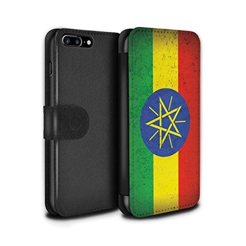 Stuff4 Coque/Etui/Housse Cuir PU Case/Cover pour Apple iPhone 5C / Tunisie/Tunisien Design / Drapeau Africain Collection Ethiopie/Éthiopien