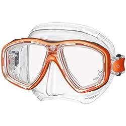 Tusa Freedom CEOS M-212 Masque de plongée avec Tuba pour Adulte avec Verres correcteurs, Energy Orange