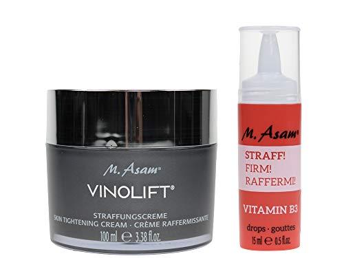 M. Asam® BOOST Vitamin B3 Drops STRAFF (15ml) + Vinolift® Straffungscreme 100ml