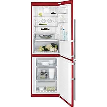 Electrolux EN3488MOH Autonome 312L A++ Rouge réfrigérateur-congélateur - réfrigérateurs-congélateurs (Autonome, Rouge, Droite, toucher, LCD, R600a)