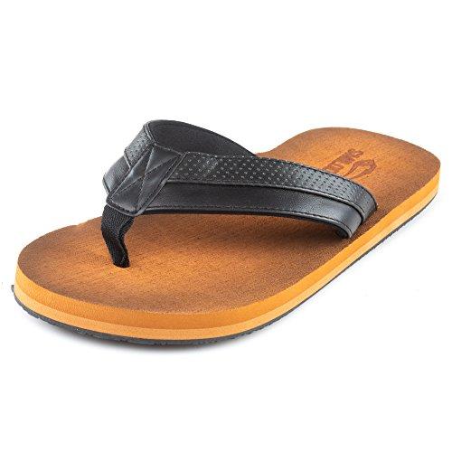 Smilodox - sandali infradito di qualità, ideali per vacanze in spiaggia, palestra e tempo libero, con suola rigida, antiscivolo, perfettamente isolanti, adatti come scarpe da casa, nero (nero ), 42 eu