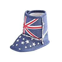 For 0-18Mnoths Girls Boys,Clode® Cute Baby Keep Warm British Flag Union Jack Baby Toddler Infant Snow Boots Soft Sole Prewalker Crib Shoes