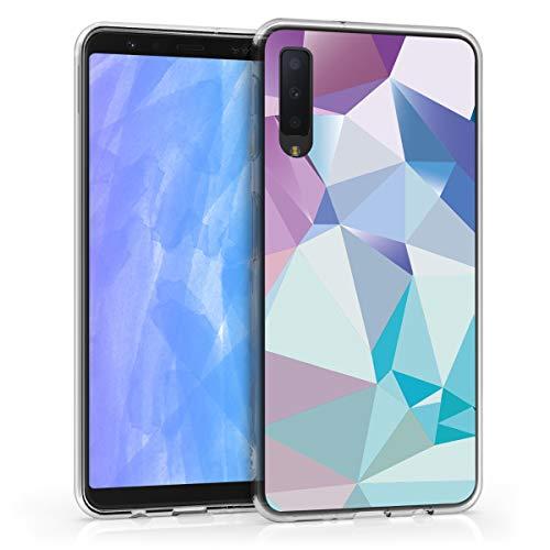 kwmobile Samsung Galaxy A7 (2018) Hülle - Handyhülle für Samsung Galaxy A7 (2018) - Handy Case in Hellblau Rosa Blau
