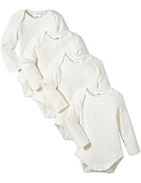 Twins Unisex Baby - Langarm-Body aus Bio Baumwolle im 4er Pack