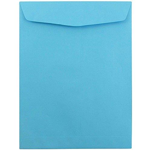 JAM Paper Offenes Ende Katalog Briefumschläge mit Gum Schließung - 228.6x 304.8mm - Blau - 100 Stück