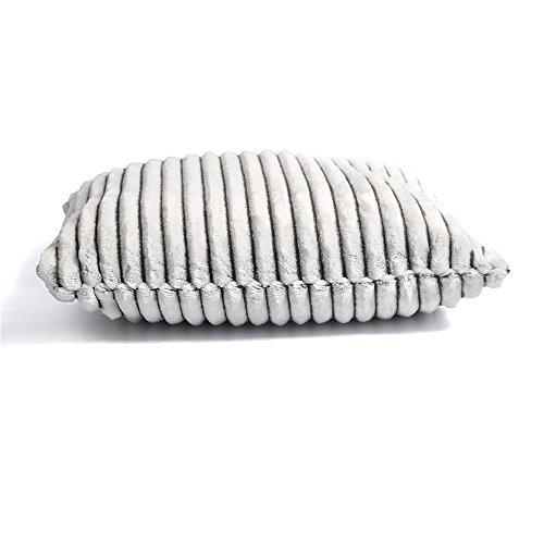 battilo Liebenswürdig, Sherpa Fleece Überwurf Kissen/Kissen für Ihr Wohnzimmer und Schlafzimmer, 40,6cm, Gray Pillow, 40,64 cm x 40,64 cm (Trim 100% Polyester-fleece)
