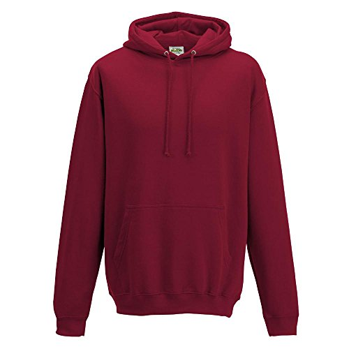 Just Hoods College Hoodie Red Hot Chilli