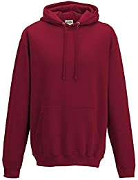Just Hoods - Unisex College Hoodie / Red Hot Chilli, XS