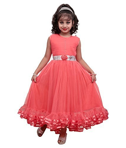 440d3db3fa17 girls Frock-little Baby girls dress-cute frocks for girls in Gajri color  FANCY
