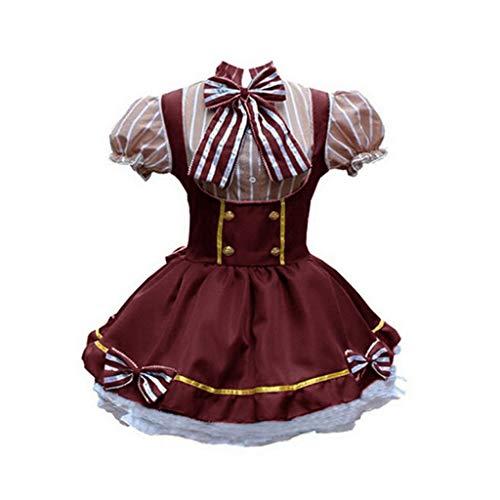 Dasongff Damen Cosplay Kostuem Lolita Gotische Kleider Laterne Sleeves Abendkleider Faltenrock mit Bowknot Minikleid Petticoat Partykleid für Bühnen Weihnachten Cosplay - Kostüm Kleiderschrank Stunden