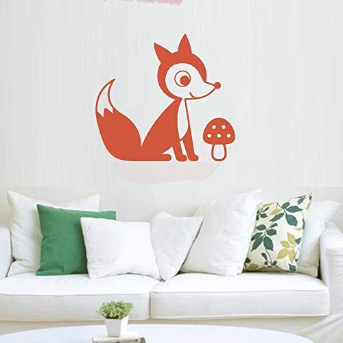 supmsds Tribal Fox Vinyl Wandaufkleber Kinderzimmer & Baby Room Decor Woodland Tier Wandaufkleber Für Kinder Schlafzimmer Home Decoratio42x46cm