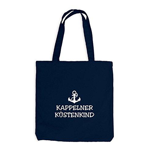 Jutebeutel - Kappelner Küstenkind - Anker Kappeln Schiffsanker Küste Maritim Navy