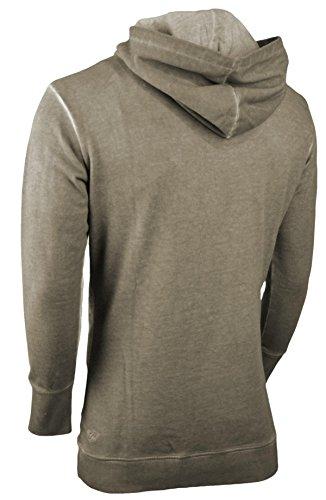trueprodigy Casual Herren Marken Sweatshirt mit Aufdruck, Oberteil cool und stylisch mit Kapuze (Langarm & Slim Fit), Hoddie für Männer bedruckt Farbe: Dunkelgrau 2562103-5203 Dark Grey
