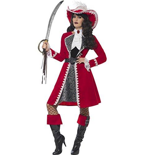 Musketier Kostüm Damen Rot - Amakando Piratenkostüm Damen - S