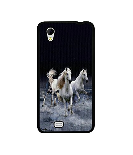 Casotec Mystic Horse Design Canvas Printed Soft TPU Back Case Cover for Gionee Ctrl V4s  available at amazon for Rs.349