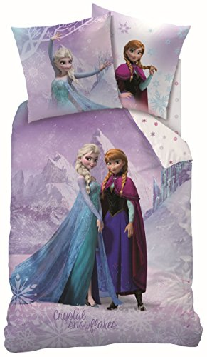 Cama Frozen Anna Elsa Frozen, almohada de 80x 80cm, funda nórdica de 135x 200cm
