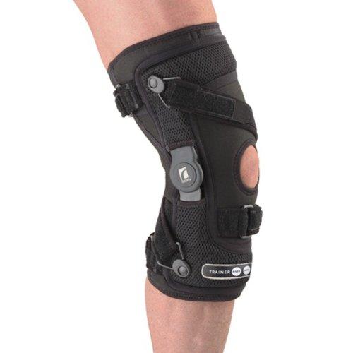Össur G2 Trainer Knie-Orthese - Knieschiene - Kniebandage mit Gelenkschienen, Farbe:schwarz, Größe / Seite:M / Links