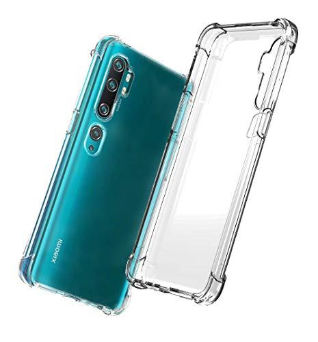 QHOHQ Cover per Xiaomi Mi Note 10,Xiaomi Mi Note 10 PRO, Custodia Trasparente Gel Silicone Sottile TPU Silicone Ultra Sottile Case (Trasparente)