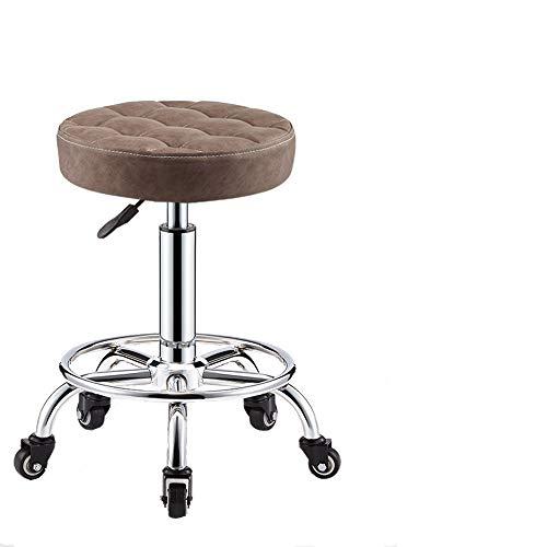 Drehbarer Rollhocker mit Rollen - Bu00fcro, Schu00f6nheit, Haarschnitt, runder Stuhl fu00fcr Esszimmer-Coffee
