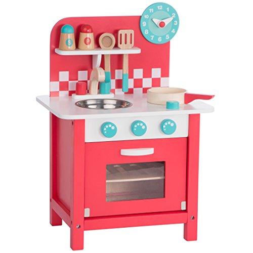Ultrakidz kleine Spielküche Charly aus Holz mit Kochzubehör