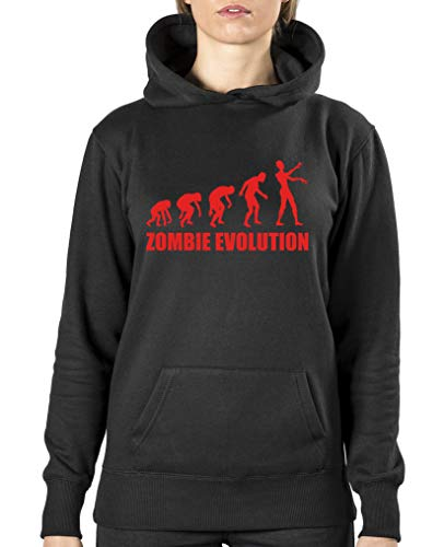 ie Evolution - Damen Hoodie - Schwarz/Rot Gr. XL ()
